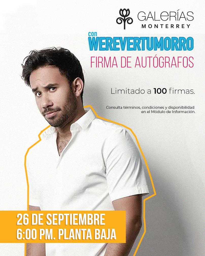 Firma de autógrafos con Werevertumorro
