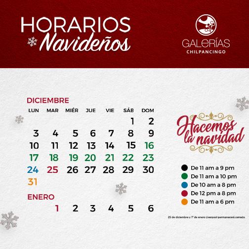 Calendario Navideño