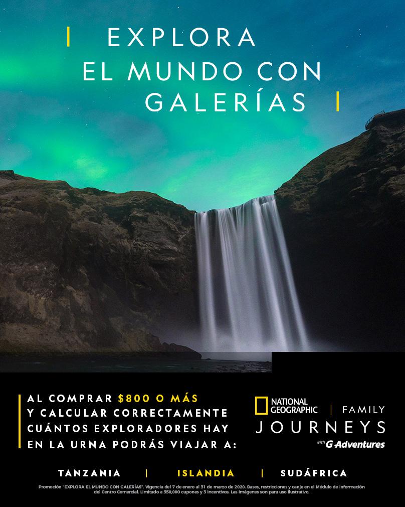 Explora el mundo con Galerías Islandia