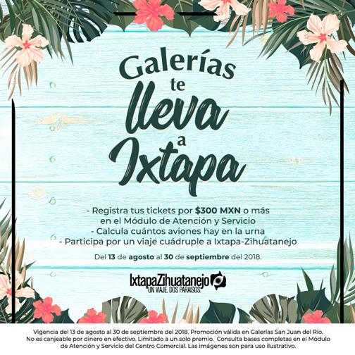 Galerías te lleva a Ixtapa