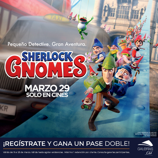 Pase doble Sherlock Gnomes